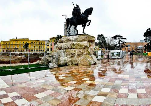 Tirana Albania - What to see - Skanderbeg Square