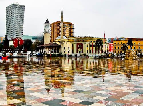 Tirana Albania - What to see - Et'hem Bey Mosque, Kulla e Sahatit, Clock Tower of Tirana