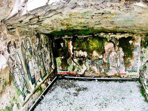 Albania - Roman Amphitheater of Durres - Chapel mosaic