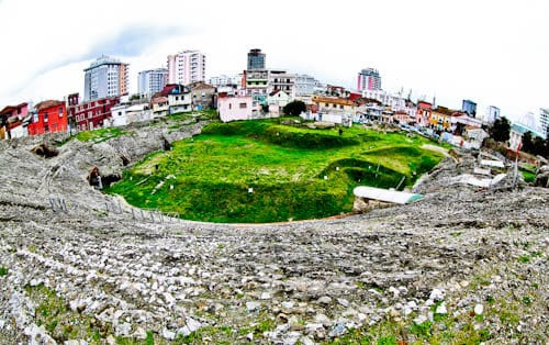 Albania - Roman Amphitheater of Durres - Location