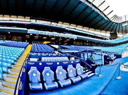 Manchester City Stadium Tour - Dug out