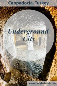 The Deepest Cappadocia Underground City - Derinkuyu. Pictures from the deep including churches, stables interconnected with narrow staircases and corridors.