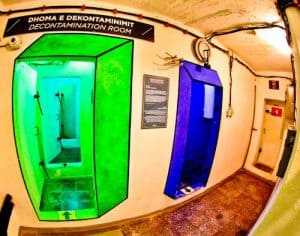 Secret Nuclear Bunker - Tirana Albania Communist Era - Bunk Art 2 - Decontamination room