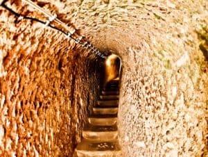 The Deepest Cappadocia Underground City - Derinkuyu - Ascending and Descending through Narrow Tunnels