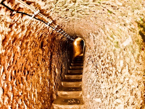 The Deepest Cappadocia Underground City - Derinkuyu - Ascending and Descending through Narrow Tunnels