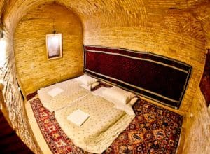 Stay in a caravanserai on the silk road - Zeinodin Caravanserai, Iran - Outer Guest Room