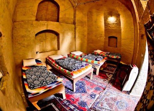 Stay in a caravanserai on the silk road - Zeinodin Caravanserai, Iran - Inner Guest Room