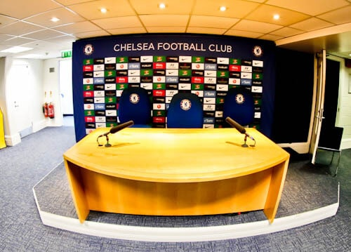 Chelsea Stadium Tour - Stamford Bridge - Press Room