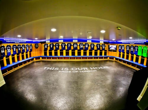 Chelsea Stadium Tour - Stamford Bridge - Home Team Dressing Rooms