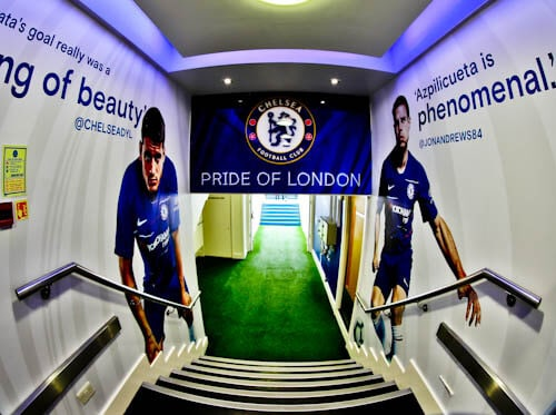 Chelsea Stadium Tour - Stamford Bridge - Players Tunnel