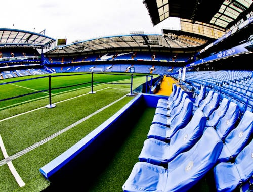 Chelsea Stadium Tour - Stamford Bridge - Pitch side and dugout