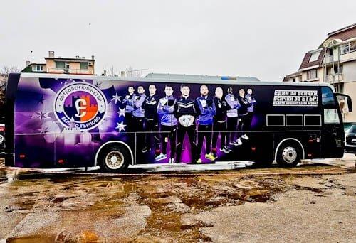 FC Etar Veliko Tarnovo Stadium Tour and Match Day Experience - Etar Veliko Tarnovo Team Bus