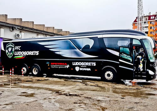 FC Etar Veliko Tarnovo Stadium Tour and Match Day Experience - Ludogorets Team Bus