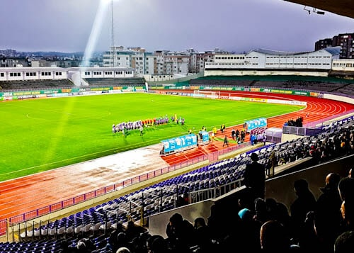 FC Etar Veliko Tarnovo Stadium Tour and Match Day Experience - Player Line Up