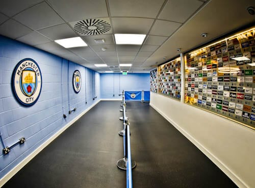 Manchester City Stadium Tour - Flash interview room