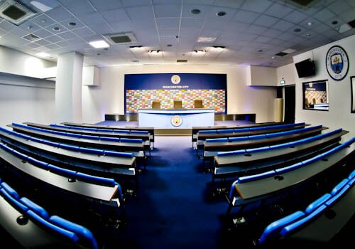 Manchester City Stadium Tour - Press Room