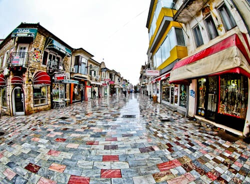 Things to do in Ohrid Macedonia - Main Shopping Street in Ohrid