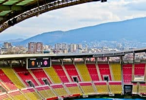 Philip II Arena - National Stadium Tour and Matchday Experience - Skopje Macedonia - Stadium with a view