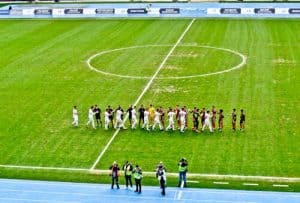 Philip II Arena - National Stadium Tour and Matchday Experience - Skopje Macedonia - Pre Match Line Up