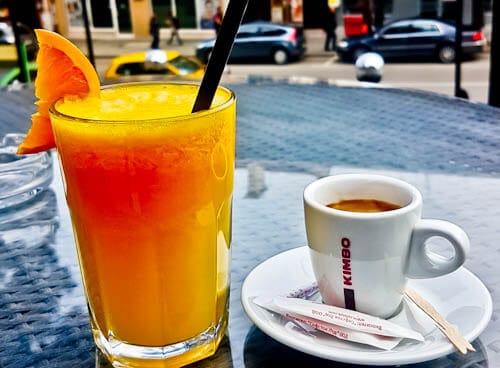 Things to do in Veliko Tarnovo Bulgaria - Freshly Squeezed Orange Juice and Espresso