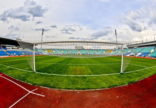 Vasil Levski Stadium - Home of the Bulgaria national football team - Pitch Side