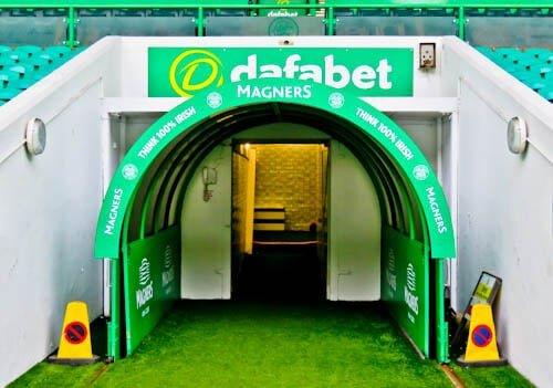 Celtic Stadium Tour - Celtic Park - Players Tunnel