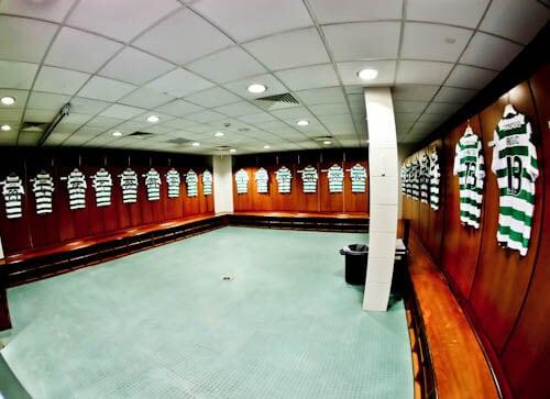 Celtic Stadium Tour - Celtic Park - Dressing Rooms