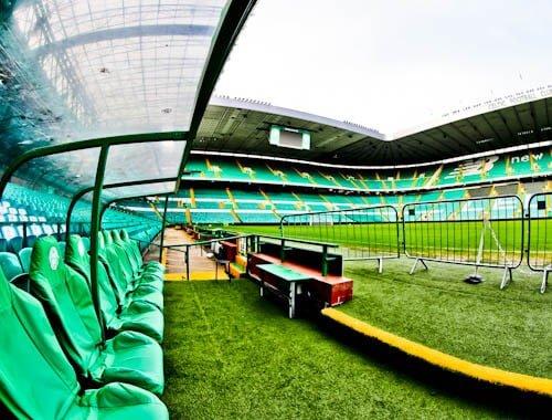 Celtic Stadium Tour - Celtic Park - Pitch Side and Dugout