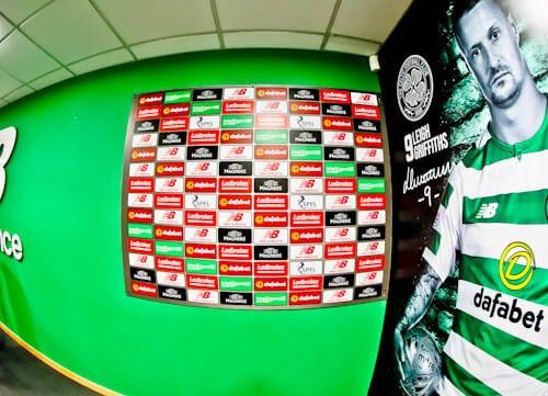 Celtic Stadium Tour - Celtic Park - Flash Interview Rooms