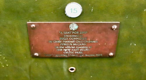 Celtic Stadium Tour - Celtic Park - Sir Billy Connolly Seat