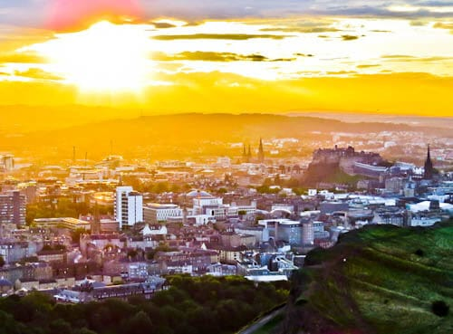 Edinburgh Landmarks - Sunset from Arthur's Seat