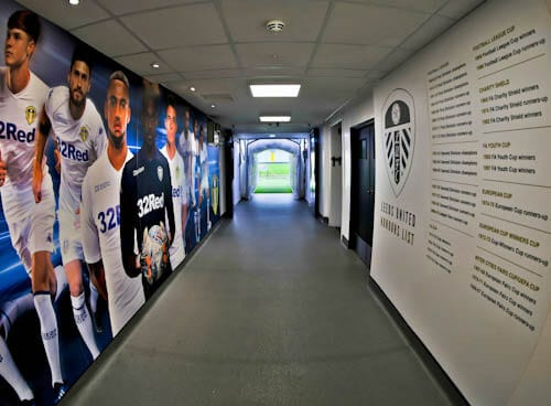 Elland Road Stadium Tour - Leeds United - Players Tunnel