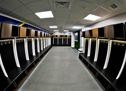 Elland Road Stadium Tour - Leeds United - Home Team Dressing Room