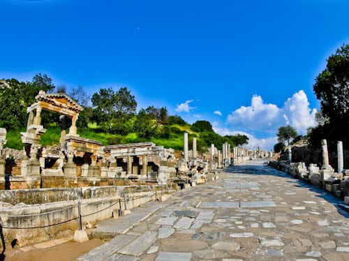 Ephesus Turkey - Curetes Street and Hercules Gate