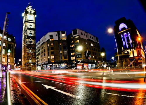 Glasgow Landmarks - Merchant City Clock Tower - Tolbooth Steeple