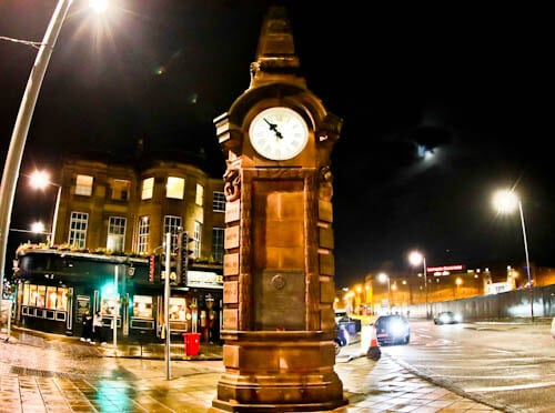 Tynecastle Park - Hearts FC Matchday Experience and Stadium Tour - Edinburgh - Hearts Memorial Clock - Haymarket