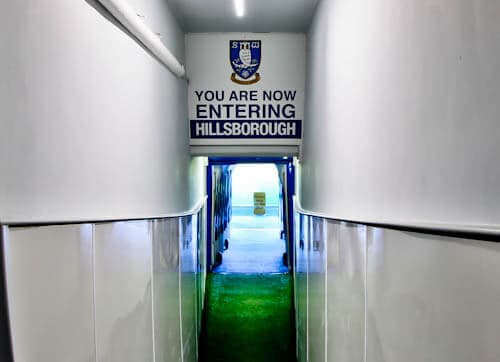 Hillsborough Stadium Tour - Sheffield Wednesday - Players Tunnel