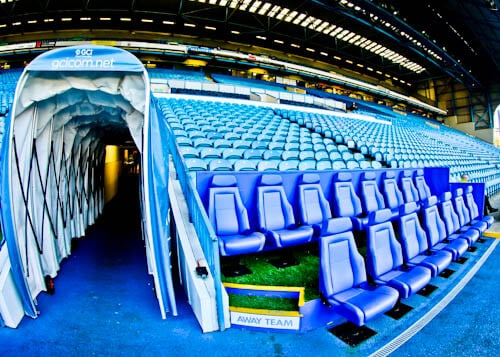 Hillsborough Stadium Tour - Sheffield Wednesday - Pitch Side and Dugout
