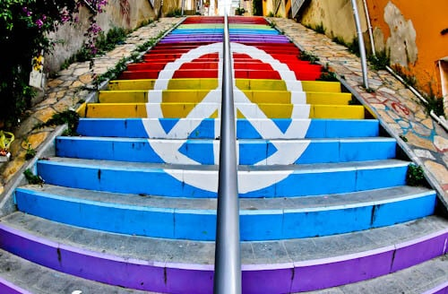 Things to do in Izmir Turkey - Colorful Staircase