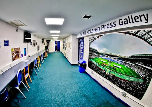 Murrayfield Stadium Tour - Edinburgh - Bill McLaren Press Gallery