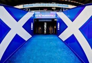 Murrayfield Stadium Tour - Edinburgh - Players Tunnel and Pitchside