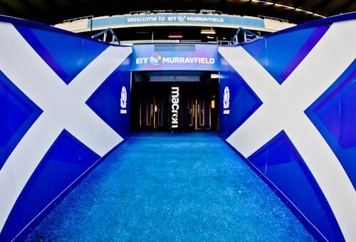 Murrayfield Stadium Tour - Edinburgh - Players Tunnel and Pitchside