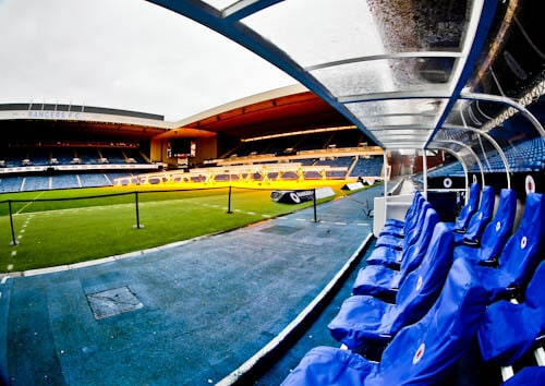 Ibrox Stadium - Dugout and Pitch Side