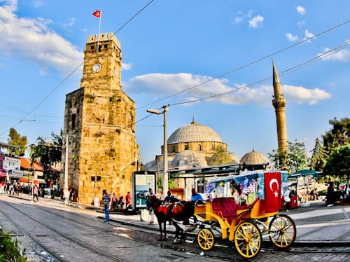 Things to do in Antalya Turkey - Clock Tower and Tekeli Mehmet Pasa Mosque