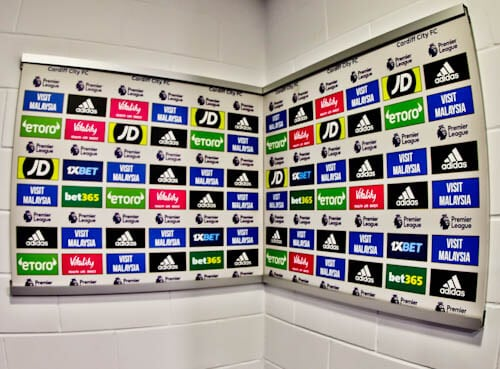 Cardiff City Stadium Tour - Flash Interview Room