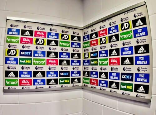 Cardiff City Stadium Tour - Flash Interview Room