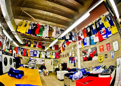 Cardiff City Stadium Tour - Kit Room