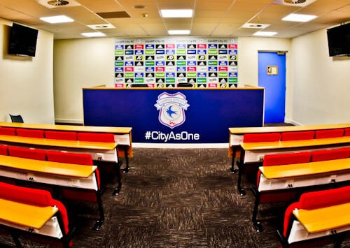 Cardiff City Stadium Tour - Press Room