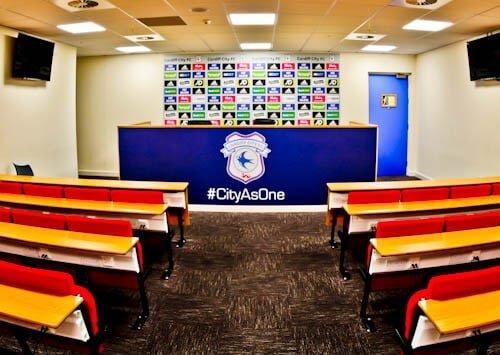Cardiff City Stadium Tour - Press Room