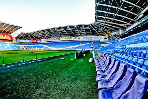 Cardiff City Stadium Tour - Pitchside and Dugouts